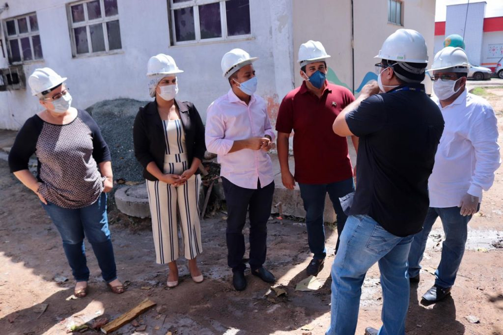 SÃO LUÍS – Vereadores fiscalizam obra de reforma da U.M do São Bernardo; Unidade receberá pacientes com Covid-19