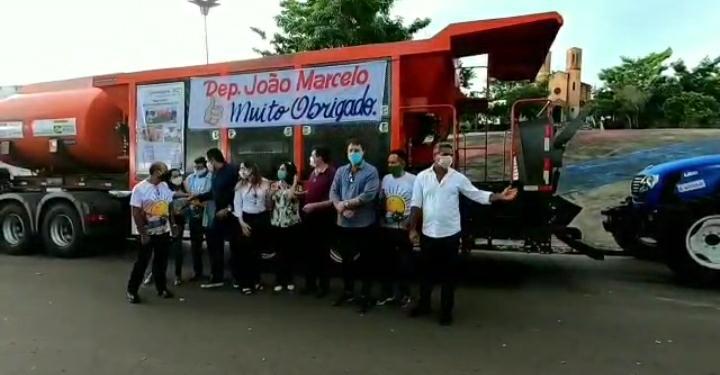 Sob presidência de Sidrack, CONLESTE entrega usina de asfalto que beneficiará vários municípios