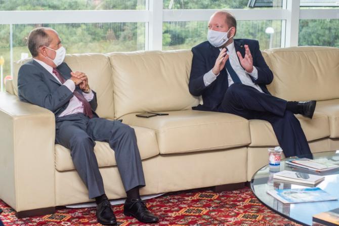 Othelino recebe visita do novo procurador-geral de Justiça e reafirma harmonia entre Legislativo e MP