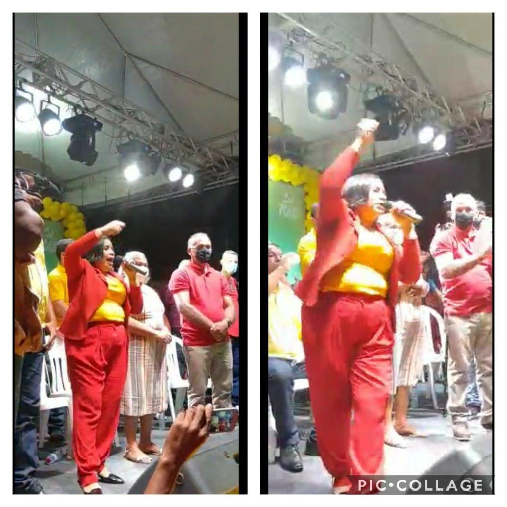 PAÇO DO LUMIAR – Durante convenção, Paula da Pindoba desafia Fred Campos; vídeo