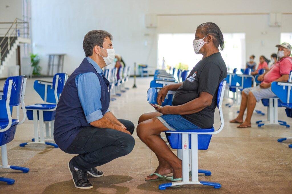 São Luís:Prefeitura começa a semana com vacinação de idosos com 64 e 63 anos contra a Covid-19