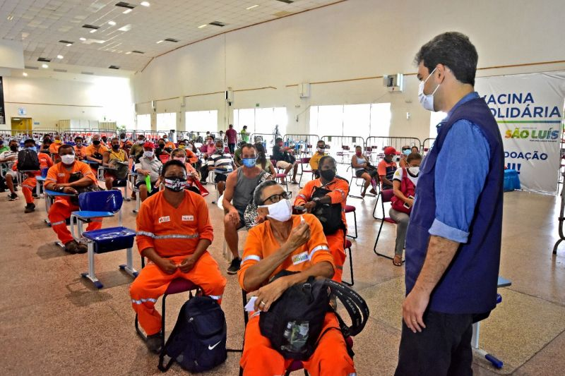 Vacinação contra Covid-19 de rodoviários e agentes de limpeza segue nesta sexta (14) e sábado (15) em São Luís
