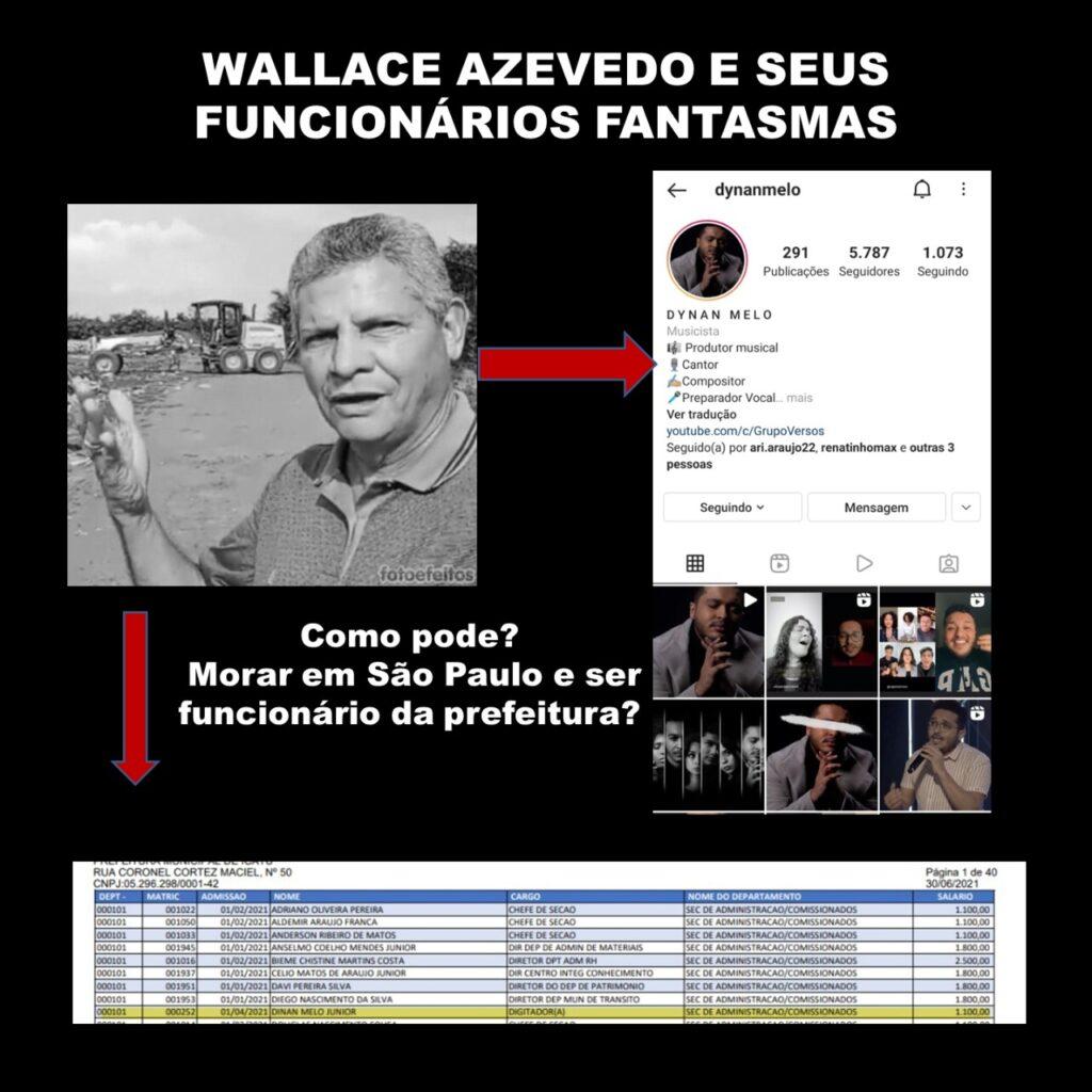 Icatu: farra na folha de pagamento e funcionários fantasmas podem levar à cassação de Walace; veja os nomes