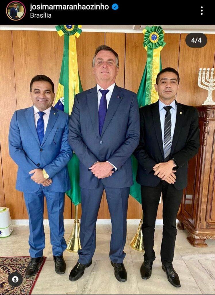 Ao lado de Bolsonaro, Maranhãozinho imita Weverton e 'manda recado' a Dino